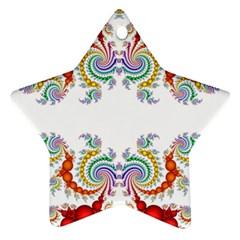Fractal Kaleidoscope Of A Dragon Head Star Ornament (Two Sides)