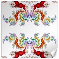 Fractal Kaleidoscope Of A Dragon Head Canvas 12  X 12