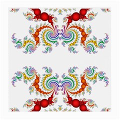 Fractal Kaleidoscope Of A Dragon Head Medium Glasses Cloth (2 Side)