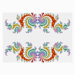 Fractal Kaleidoscope Of A Dragon Head Large Glasses Cloth (2 Side)