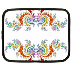 Fractal Kaleidoscope Of A Dragon Head Netbook Case (large)