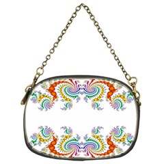 Fractal Kaleidoscope Of A Dragon Head Chain Purses (one Side)