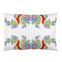 Fractal Kaleidoscope Of A Dragon Head Pillow Case