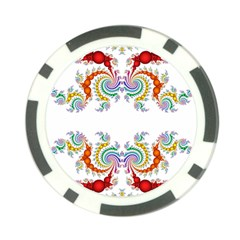 Fractal Kaleidoscope Of A Dragon Head Poker Chip Card Guard (10 Pack)