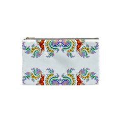 Fractal Kaleidoscope Of A Dragon Head Cosmetic Bag (small)