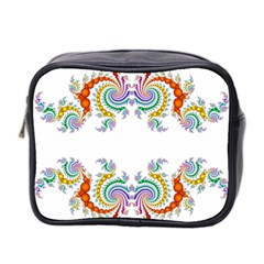 Fractal Kaleidoscope Of A Dragon Head Mini Toiletries Bag 2 Side