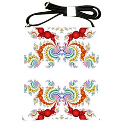 Fractal Kaleidoscope Of A Dragon Head Shoulder Sling Bags