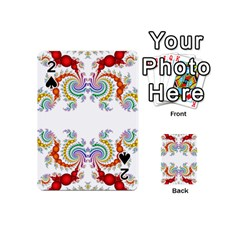 Fractal Kaleidoscope Of A Dragon Head Playing Cards 54 (mini)