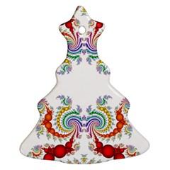 Fractal Kaleidoscope Of A Dragon Head Ornament (Christmas Tree)