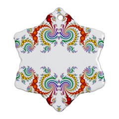 Fractal Kaleidoscope Of A Dragon Head Snowflake Ornament (Two Sides)