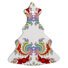 Fractal Kaleidoscope Of A Dragon Head Christmas Tree Ornament (Two Sides)