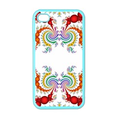 Fractal Kaleidoscope Of A Dragon Head Apple iPhone 4 Case (Color)