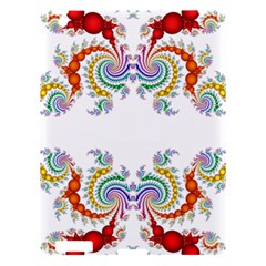 Fractal Kaleidoscope Of A Dragon Head Apple Ipad 3/4 Hardshell Case