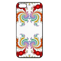 Fractal Kaleidoscope Of A Dragon Head Apple Iphone 5 Seamless Case (black)