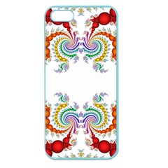 Fractal Kaleidoscope Of A Dragon Head Apple Seamless Iphone 5 Case (color)