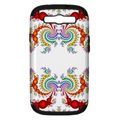 Fractal Kaleidoscope Of A Dragon Head Samsung Galaxy S Iii Hardshell Case (pc+silicone)