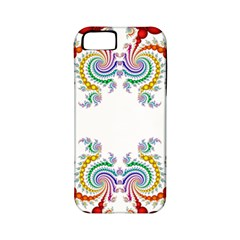 Fractal Kaleidoscope Of A Dragon Head Apple Iphone 5 Classic Hardshell Case (pc+silicone)