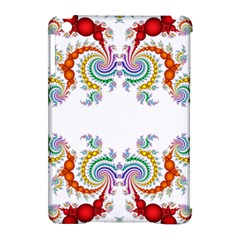 Fractal Kaleidoscope Of A Dragon Head Apple iPad Mini Hardshell Case (Compatible with Smart Cover)