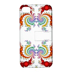 Fractal Kaleidoscope Of A Dragon Head Apple Iphone 4/4s Hardshell Case With Stand
