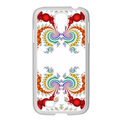 Fractal Kaleidoscope Of A Dragon Head Samsung Galaxy S4 I9500/ I9505 Case (white)