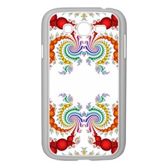 Fractal Kaleidoscope Of A Dragon Head Samsung Galaxy Grand Duos I9082 Case (white)