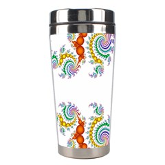 Fractal Kaleidoscope Of A Dragon Head Stainless Steel Travel Tumblers