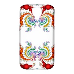 Fractal Kaleidoscope Of A Dragon Head Samsung Galaxy S4 Classic Hardshell Case (PC+Silicone)