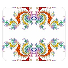 Fractal Kaleidoscope Of A Dragon Head Double Sided Flano Blanket (small)