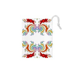 Fractal Kaleidoscope Of A Dragon Head Drawstring Pouches (xs)