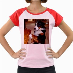 Bernese Mountain Dog Begging Women s Cap Sleeve T-Shirt
