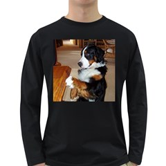 Bernese Mountain Dog Begging Long Sleeve Dark T-Shirts