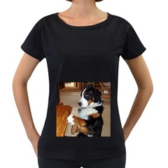 Bernese Mountain Dog Begging Women s Loose-Fit T-Shirt (Black)