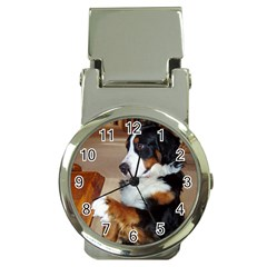 Bernese Mountain Dog Begging Money Clip Watches