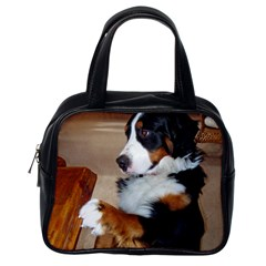 Bernese Mountain Dog Begging Classic Handbags (One Side)