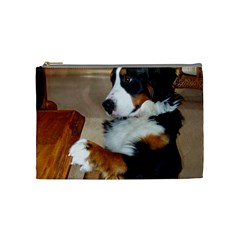 Bernese Mountain Dog Begging Cosmetic Bag (Medium)