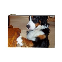 Bernese Mountain Dog Begging Cosmetic Bag (Large)