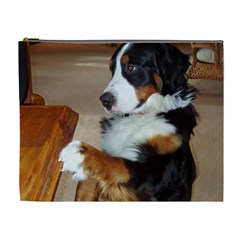 Bernese Mountain Dog Begging Cosmetic Bag (XL)