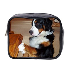 Bernese Mountain Dog Begging Mini Toiletries Bag 2-Side