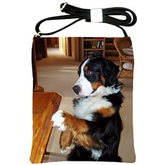 Bernese Mountain Dog Begging Shoulder Sling Bags