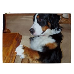Bernese Mountain Dog Begging Cosmetic Bag (XXL)