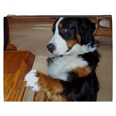 Bernese Mountain Dog Begging Cosmetic Bag (XXXL)