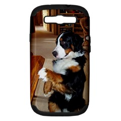 Bernese Mountain Dog Begging Samsung Galaxy S III Hardshell Case (PC+Silicone)