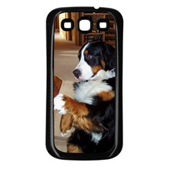 Bernese Mountain Dog Begging Samsung Galaxy S3 Back Case (Black)