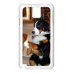 Bernese Mountain Dog Begging Samsung Galaxy Note 3 N9005 Case (White)