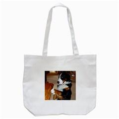 Bernese Mountain Dog Begging Tote Bag (White)