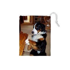 Bernese Mountain Dog Begging Drawstring Pouches (Small)