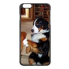 Bernese Mountain Dog Begging Apple iPhone 6 Plus/6S Plus Black Enamel Case