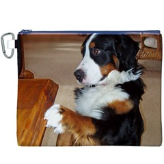 Bernese Mountain Dog Begging Canvas Cosmetic Bag (XXXL)