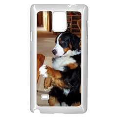 Bernese Mountain Dog Begging Samsung Galaxy Note 4 Case (White)