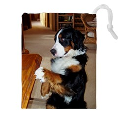Bernese Mountain Dog Begging Drawstring Pouches (XXL)